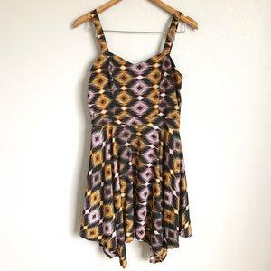 Geometric print Bar III dress.